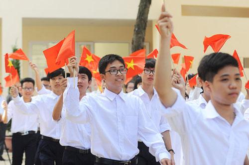 Học sinh tham dự lễ khai giảng năm học 2017-2018
